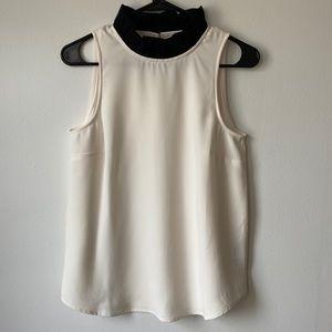 J.Crew HolidayEdition RuffleNeck Sleeveless blouse